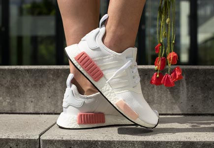 adidas nmd blanche et rose